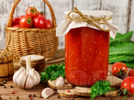 Доматен сос с подправки – класическа рецепта (зимнина) - снимка на рецептата